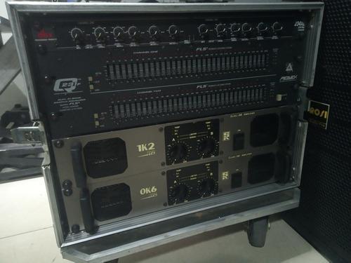 Amplificadores + crossover + ecualizador + rack