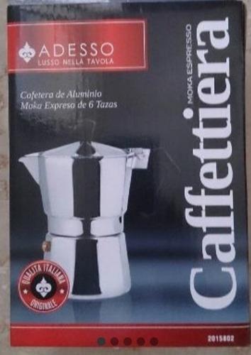 Cafetera Greca 6 Tazas Marca Adesso Tecnología Italiana