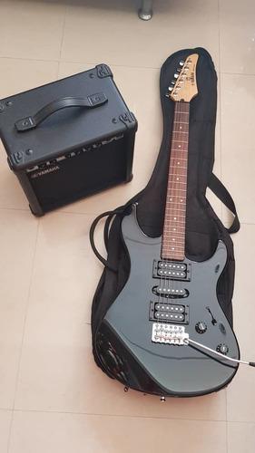 Guitarra eléctrica yamaha erg 121 c con amplificador ga-15
