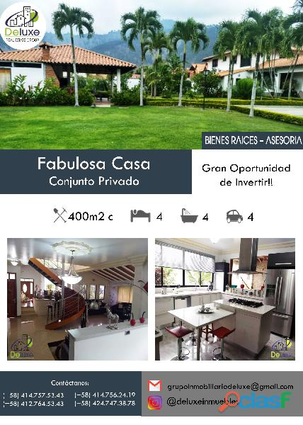Estupenda casa estilo arquitectura moderna, 400 m2 Urbanización La Mara 3