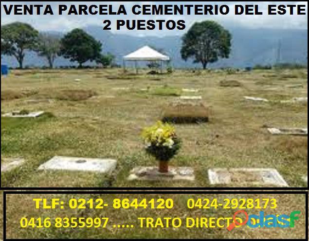 Parcelas cementerio del este. excelente ubicación. mayo 2020