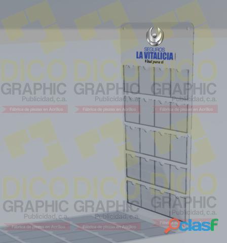Cartelera fiscal Standard Acrilico Transparente 2mm