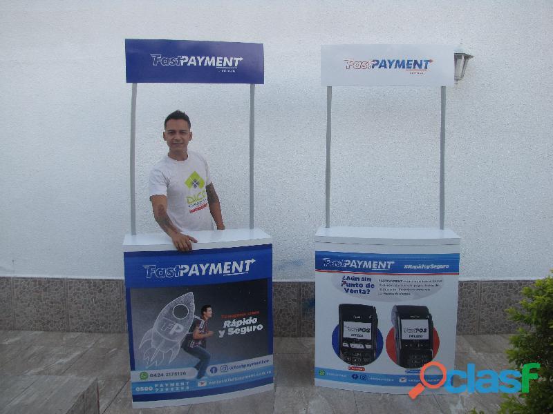 Stand desarmable con publicidad PVC 2mm