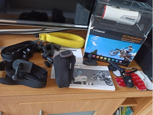 Camara de accion hd xs100 16mp 1080p polaroid con accesorios
