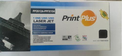 Cartucho Toner Compatible Print Plus Pp2612a-ppex104 Negro