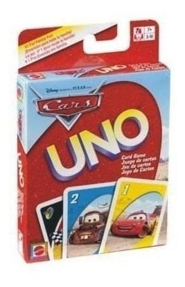 Juego de cartas uno cars disney niños familiar diversion