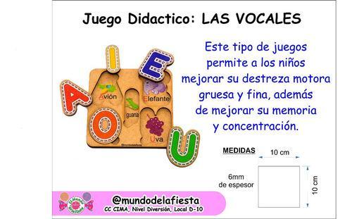 Juego didáctico vocales y numeros