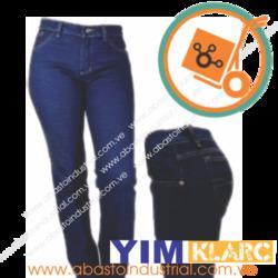 Pantalón tres costuras en tela jeans abasto industrial