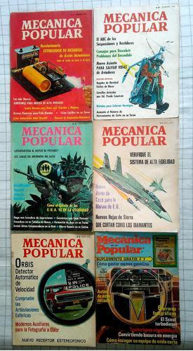 Revistas de mecánica popular de colección.