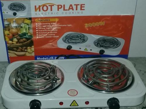 Cocina eléctrica portátil de dos (2) hornillas.