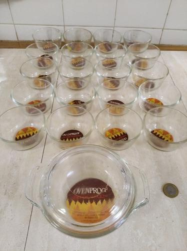 Envases refractario vidrio templado transferentes pequeños