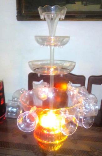 Fuente coctelera con luces
