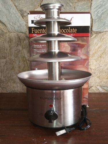 Fuente de chocolate euro chef 4 niveles de acero inox
