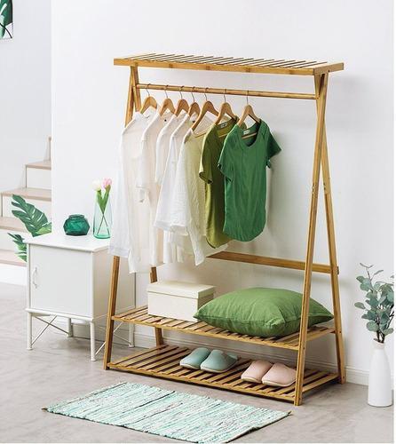 Perchero plegable desarmable ropa tienda moda minimalista