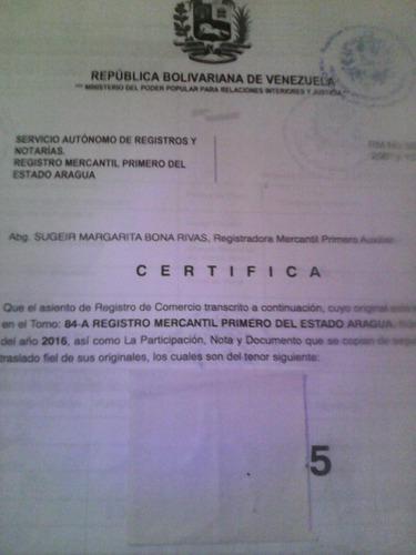 Registro mercantil c.a.