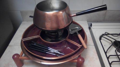 Set fondué vintage clásico culinox cobre acero