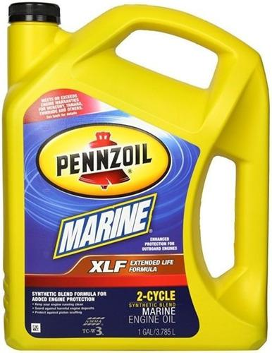 Aceite motor 2 tiempos y fuera de borda pennzoil galon 3.7 l