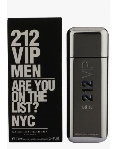 Perfume 212 vip men carolina herrera 100ml tienda fisica