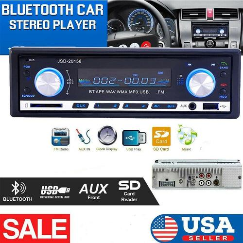 Radio reproductor de musica mp3 bluetooth p/vehiculos