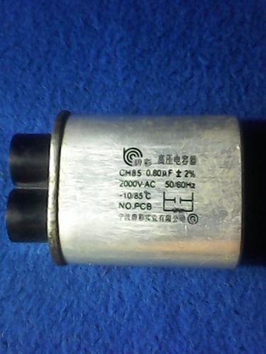 Capacitores de microondas.. o,76 0,80 0,82 y 1,00
