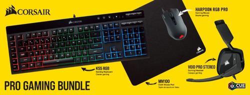 Combo corsair rgb icue 4en1 teclado+mouse+headset+alfombra