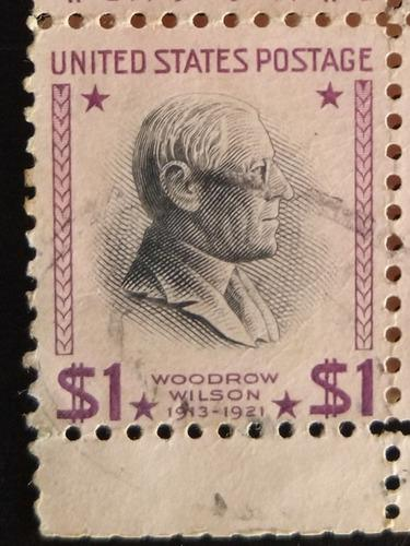 Estados unidos 1938 1 usa estampilla woodrow wilson