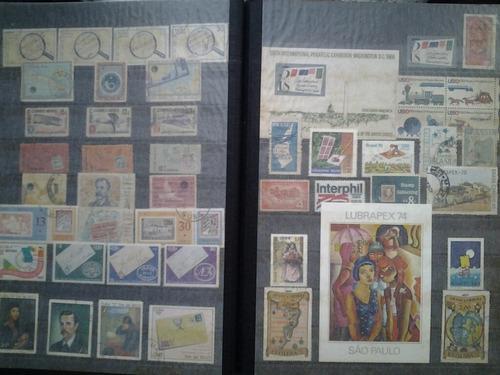 Estampillas. tema: filatelia. aprox. 1.000 sellos.180 v.