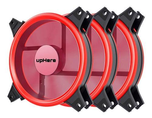 Fan cooler ventilador uphere 120mm rgb rojo led 10v