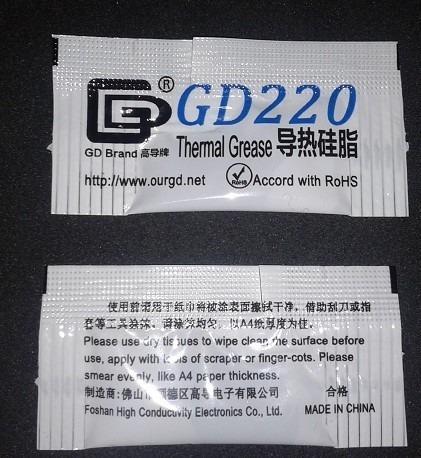 Pasta Térmica Para Procesador/cpu Gd220 Sobres 0,5grs