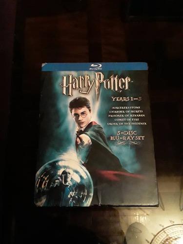 Pelicula blu ray box set de harry potter años 1-5