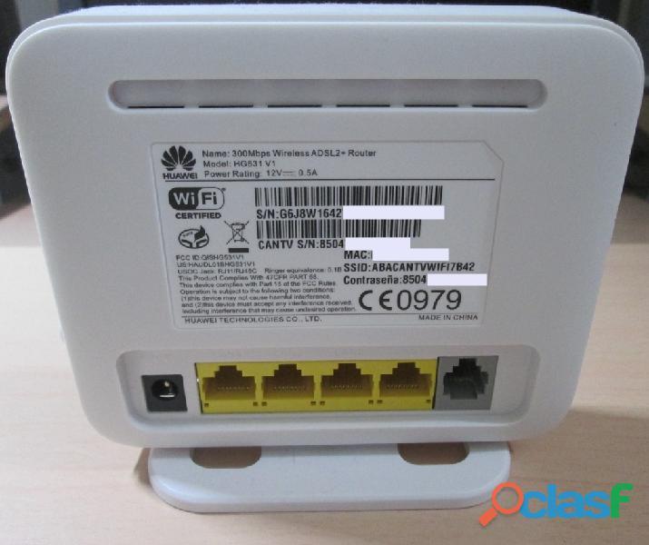 vendo router modem hg531v1