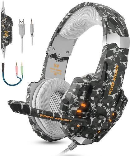 Audifonos gamer camuflaje ps4, pc, xbox one,nintendo swich