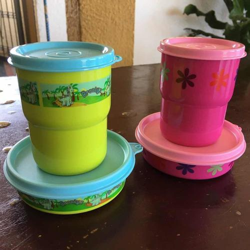 Duo maravilla pequeño + vaso apilable 225ml tupperware (6)