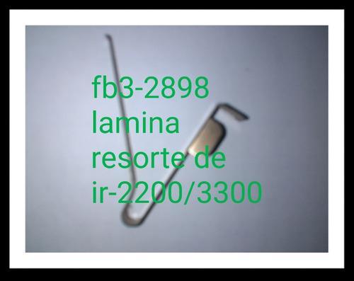 Lamina resorte de fb3-2898 canon ir-2200/3300