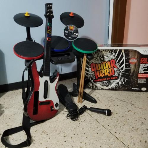 Set guitar hero completo para wii original
