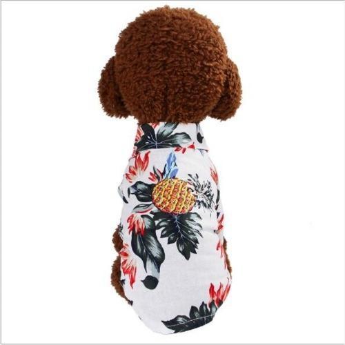 Ropa para mascota moda camisa algodon estampada talla