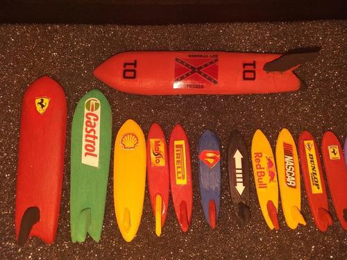 Tablas de surf a escalas