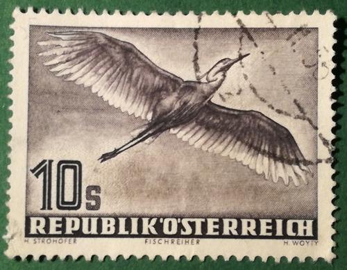 Estampilla de austria. serie: aves, correo aéreo. 1953.