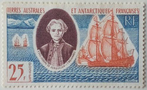 Estampilla de la antartica francesa. colonia francesa. 1960