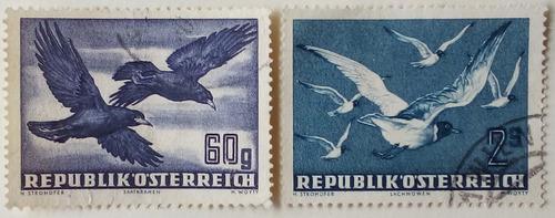 Estampillas de austria. serie: aves, correo aéreo. 1950.