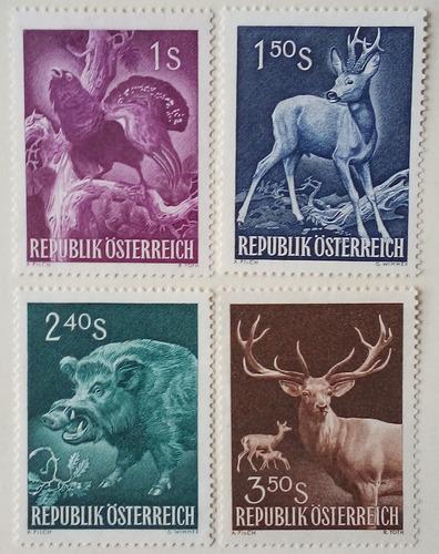 Estampillas de austria. serie: congreso intl de caceria.1959