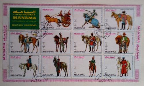 Estampillas de emiratos arabes unidos, (manama state). 1972.