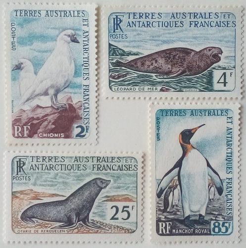 Estampillas de la antartica francesa. colonia francesa. 1960