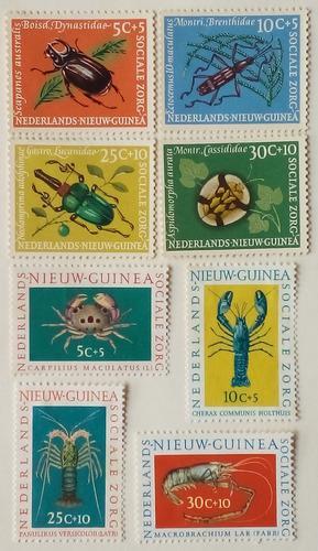 Estampillas de nva guinea holandesa.s/obras sociales.1961/62