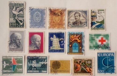 Estampillas de portugal. sellos variados de los años 60´s.