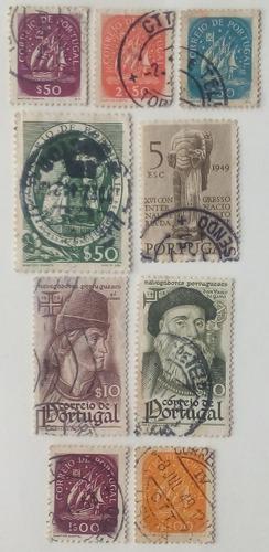 Estampillas de portugal. variadas de los años 40´s.