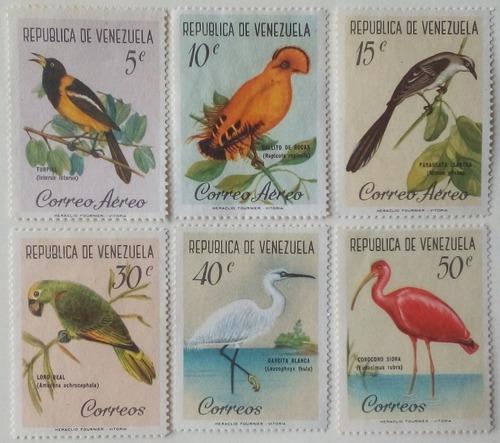Estampillas de venezuela. serie aves. 1961.