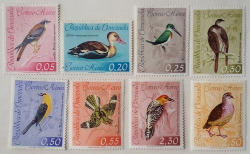 Estampillas de venezuela. serie aves, correo aéreo. 1962.