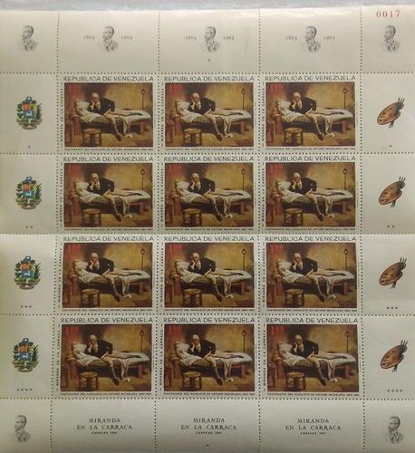 Estampillas tipo bloque serie completa 0017. venezuela.