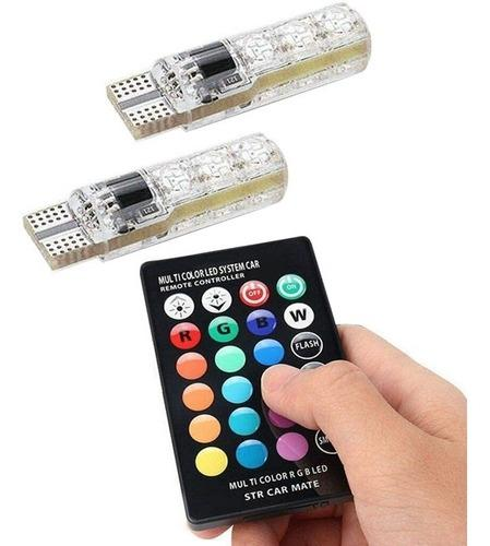T10 muelitas led multicolor rgb estrobo flash control remoto